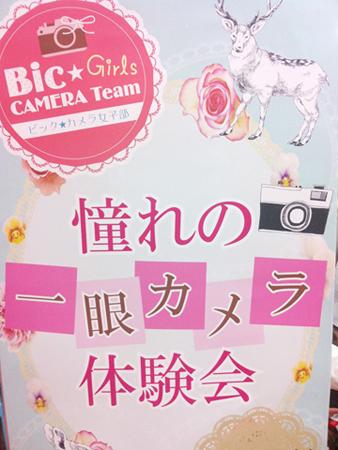 ビックカメラ憧れの一眼カメラ体験会(有楽町店)