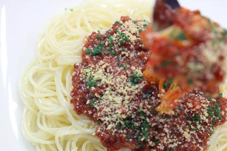 スパゲッティの食品サンプル