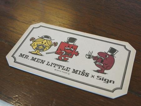 MR. MEN LITTLE MISS(ミスターメンリトルミス)×Sign代官山CAFEのコースター