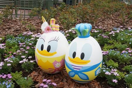 ドナルドとデイジーのキャラクターエッグ イースター2015  エッグハント(東京ディズニーランド)