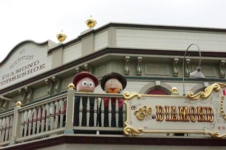 トイストーリーのジェシーとウッディのキャラクターエッグ イースター2015  エッグハント(東京ディズニーランド)