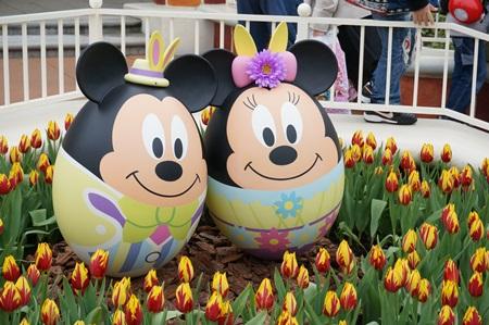 ミッキーとミニーのキャラクターエッグ:イースター2015  エッグハント(東京ディズニーランド)