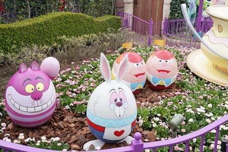 不思議の国のアリスのキャラクターエッグ イースター2015  エッグハント(東京ディズニーランド)