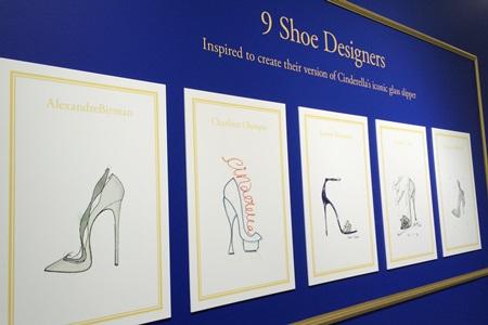 人気9ブランドのシンデレラの靴デザイン画