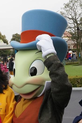 ジミニー・クリケット:東京ディズニーランドキャラクターグリーティング