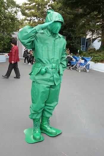 グリーン・アーミー・メン:東京ディズニーランドキャラクターグリーティング