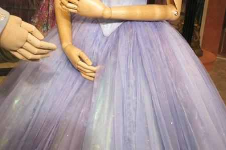 シンデレラの衣装:舞踏会場:ディズニーシンデレラエキシビジョン銀座三越