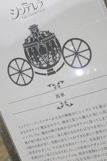 シンデレラエキシビジョン 馬車の説明