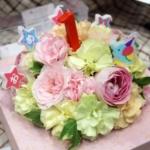 1歳誕生日にフラワーケーキ「BABY CAKE」