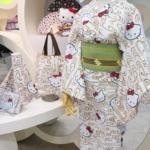 【キティ】大人かわいいゆかた♪ハローキティ40周年が創業172年の老舗呉服屋「竺仙」とコラボ