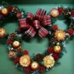 【ディズニーリース】ミニーちゃんシルエットがかわいい「クリスマス ミニー」