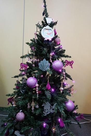 イイハナ ディズニー クリスマスツリーセット「プリンセスツリー~Ariel~」150cm(LEDライト付き)