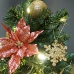 【ミニツリー】小さくても本格的でゴージャスなミニツリー「エンジョイ・クリスマス~エレガンスゴールド~」