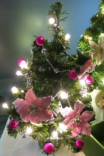 イイハナ ミニツリーセット「シャイニング ホーリー」45cm(LEDライト付き)