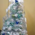 【ディズニーツリー】 3D光ファイバーを使ったきらきら光り輝くロマンティックなクリスマスツリー「シャイニーロマネスク~フローズンブルー~」