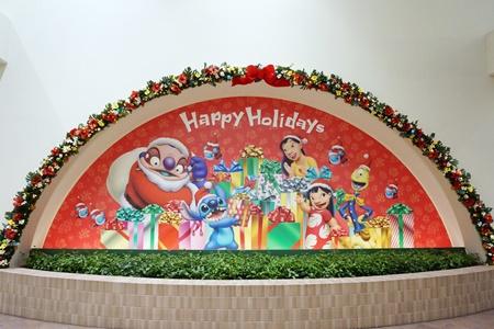 2015年ディズニーリゾートゲートウェイステーション入り口のクリスマス