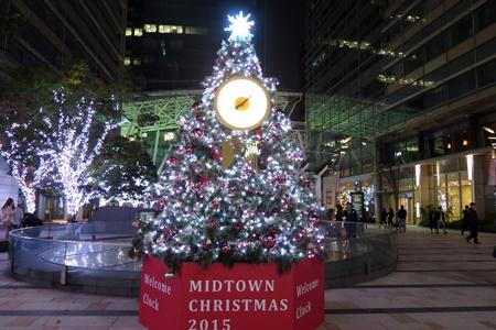 2015年東京ミッドタウンクリスマスイルミネーション ウェルカムツリー
