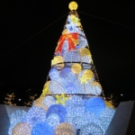 【有楽町イルミネーション】リボンがかわいいザ・ペニンシュラ東京のクリスマスイルミネーション