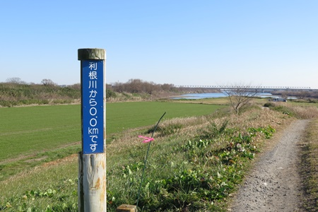 剣先(鬼怒川と利根川の合流地点)