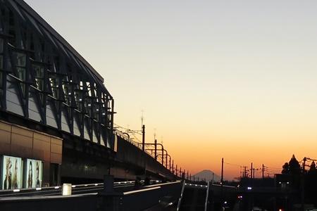 守谷駅から見える富士山