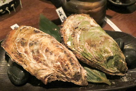 焼き牡蛎  魚バカ一代 日本橋店