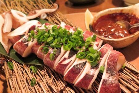 イカのワタみそ焼き  魚バカ一代 日本橋店