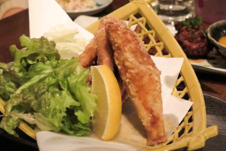 フグの唐揚げ  魚バカ一代 日本橋店
