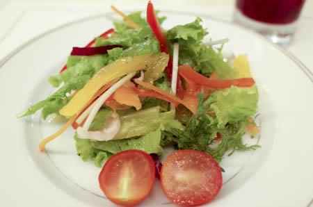 高島屋 サロン・ド・テ・ミュゼ イマダミナコ セットのサラダ