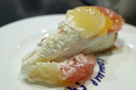 カフェコムサ グレープフルーツのケーキ