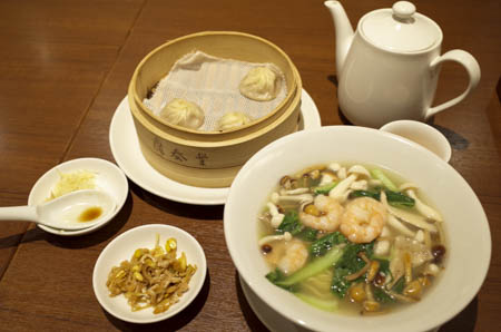 4種のきのこタン麺セット ディンタイフォン(鼎泰豐)