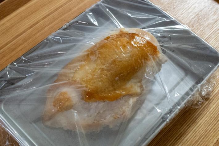 鶏むね肉の蒸し焼き